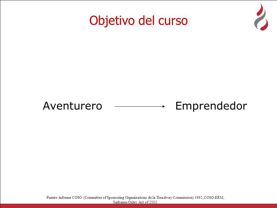 Objetivo del curso Aventurero Emprendedor