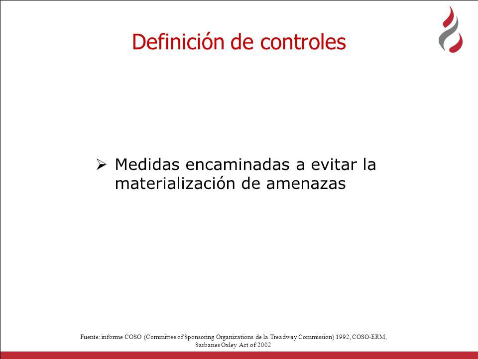 Definición de controles
