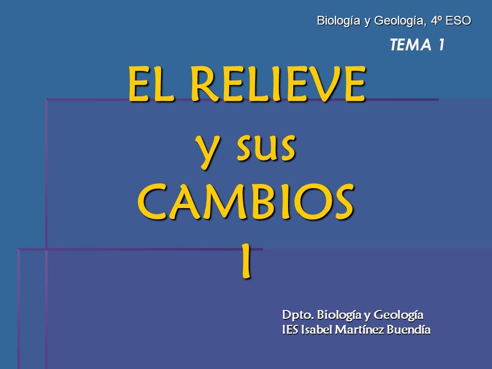 EL RELIEVE y sus CAMBIOS I