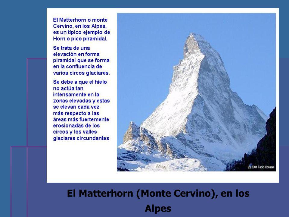 El Matterhorn (Monte Cervino), en los Alpes