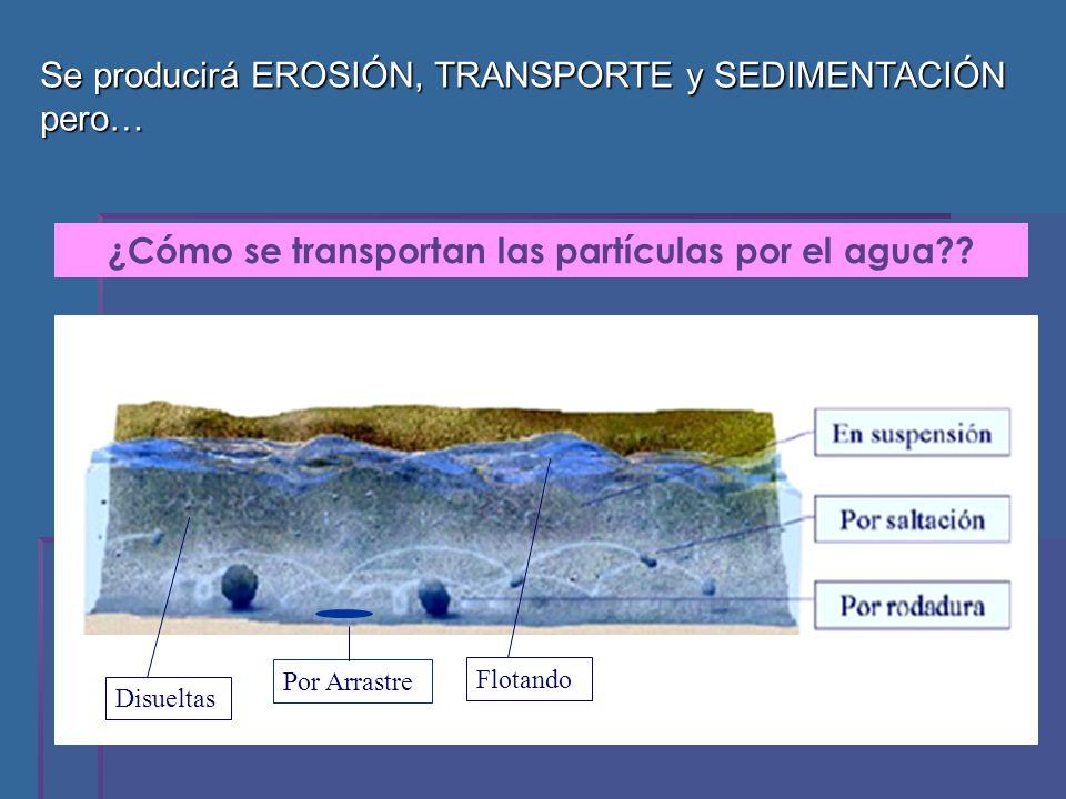 ¿Cómo se transportan las partículas por el agua