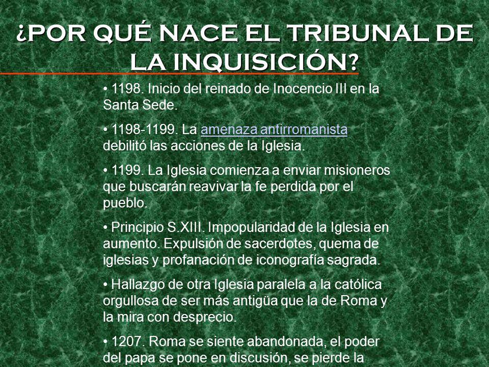 ¿POR QUÉ NACE EL TRIBUNAL DE LA INQUISICIÓN