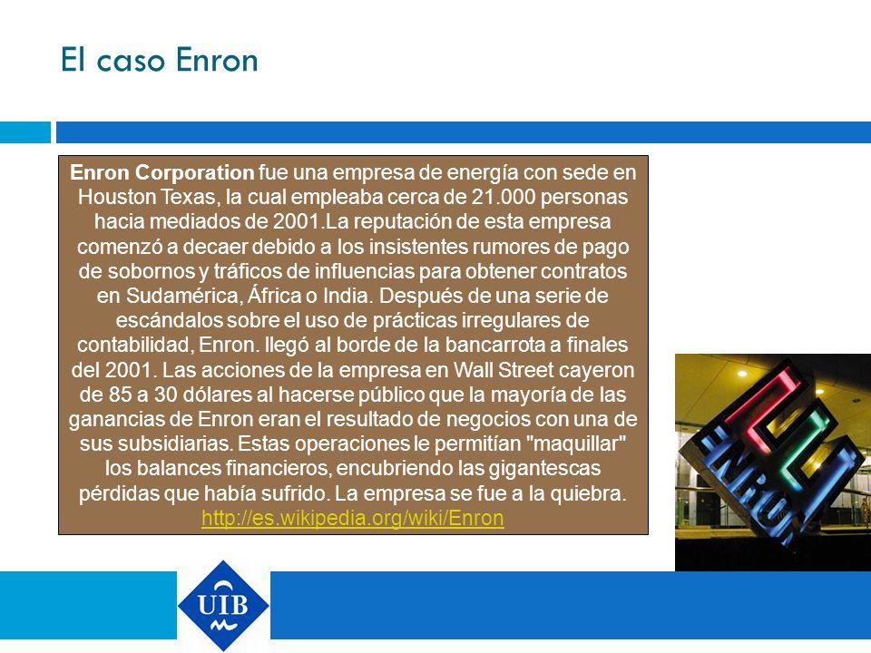 El caso Enron