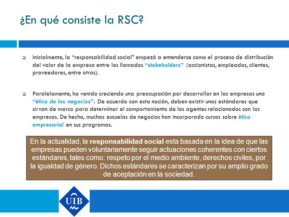 ¿En qué consiste la RSC