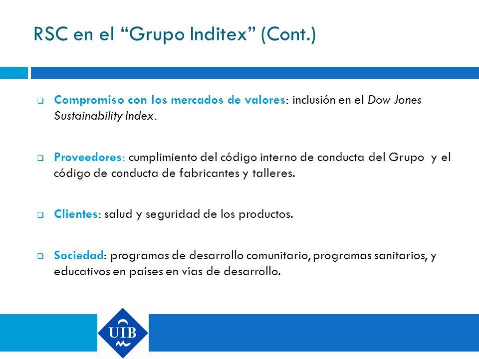 RSC en el Grupo Inditex (Cont.)