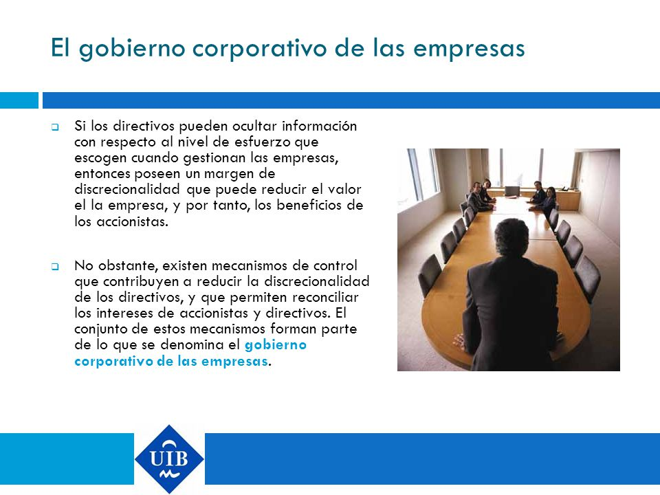 El gobierno corporativo de las empresas