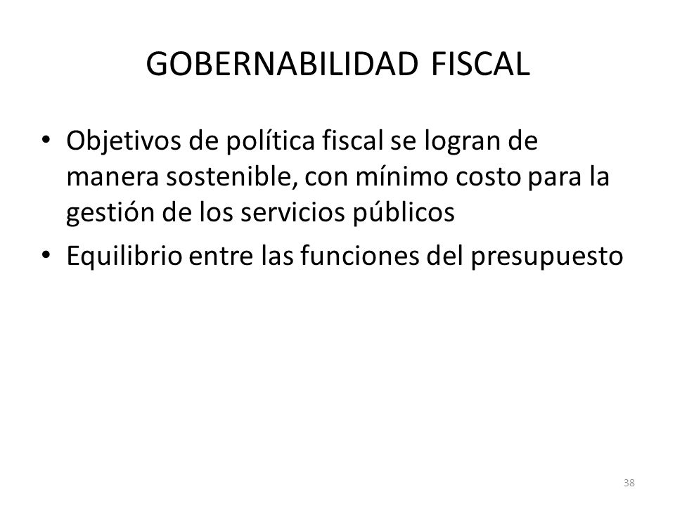 GOBERNABILIDAD FISCAL