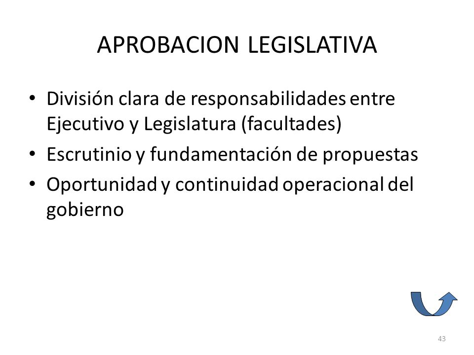 APROBACION LEGISLATIVA
