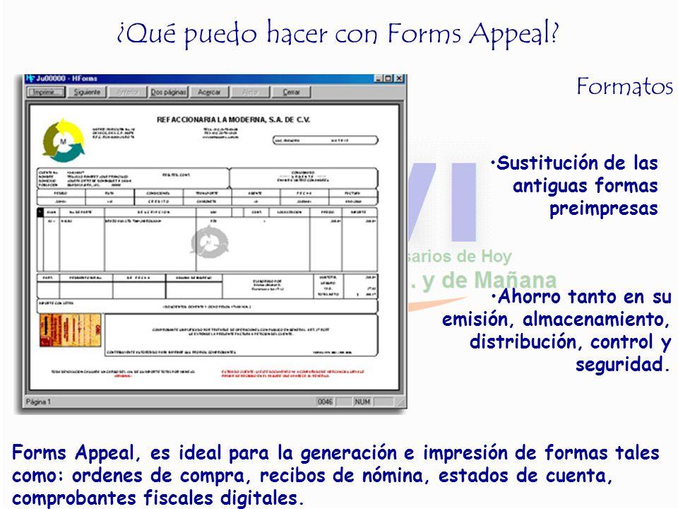 ¿Qué puedo hacer con Forms Appeal