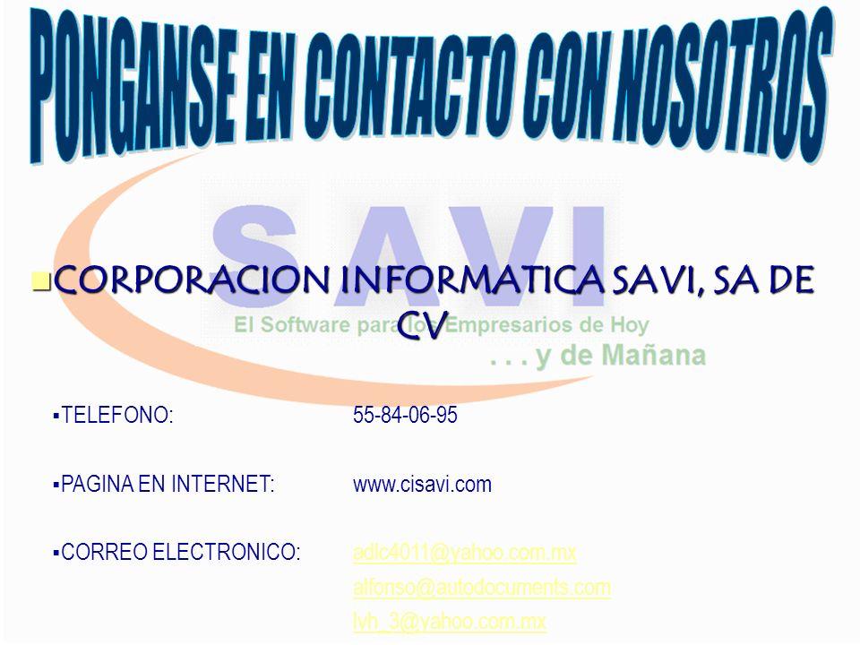 CORPORACION INFORMATICA SAVI, SA DE CV