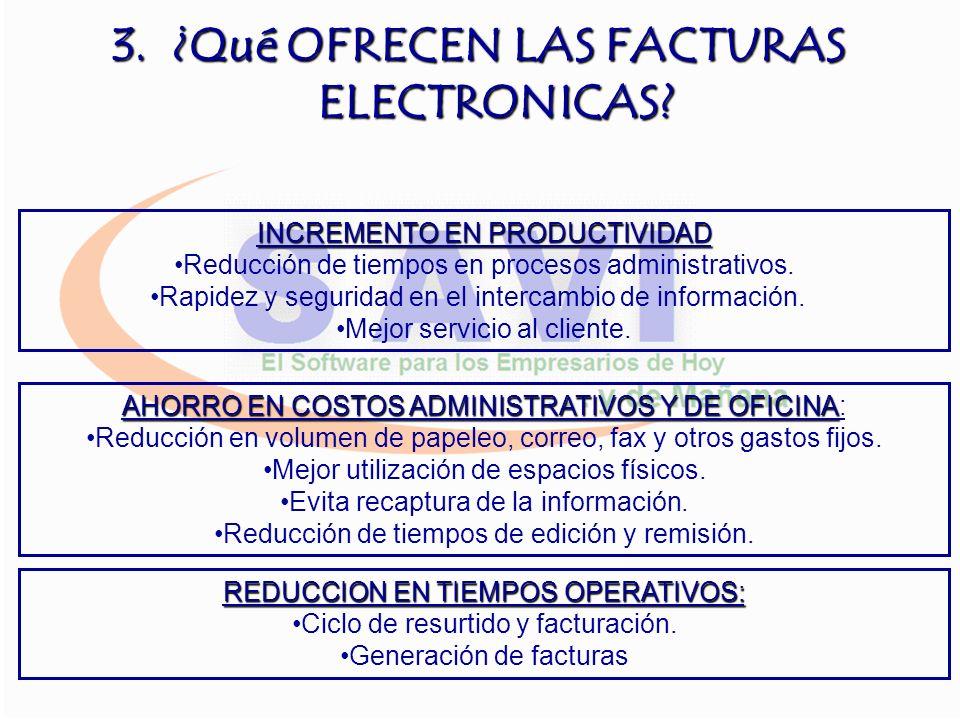 ¿Qué OFRECEN LAS FACTURAS ELECTRONICAS