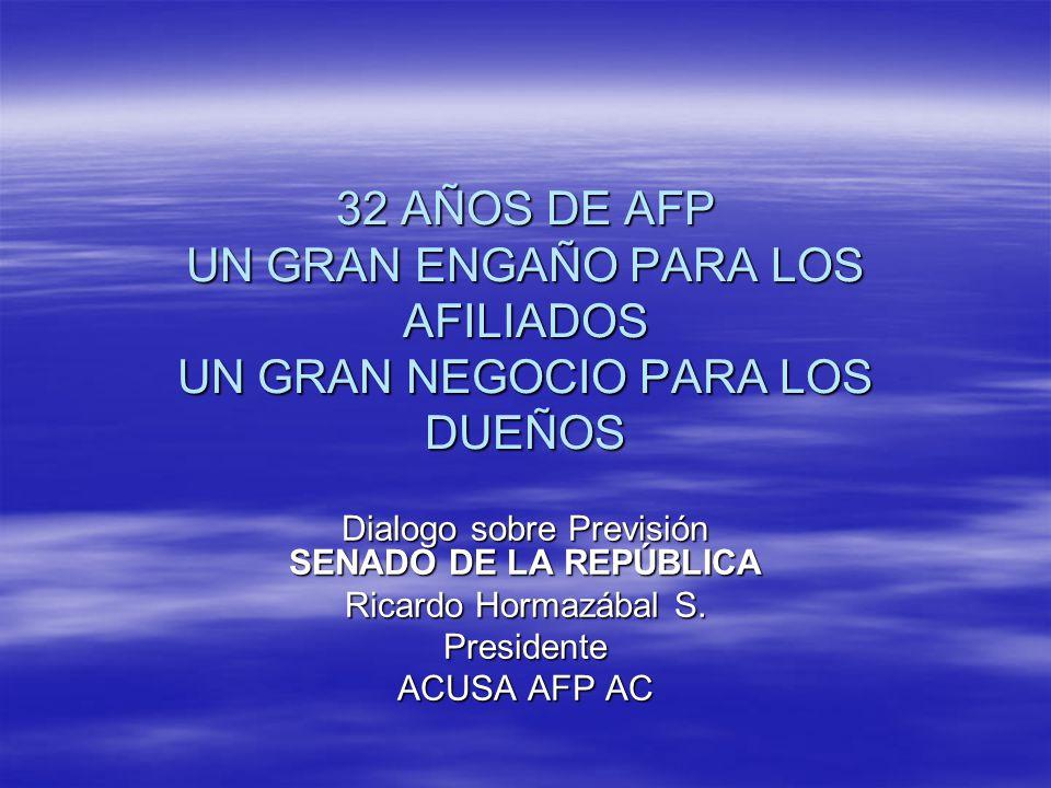 Dialogo sobre Previsión SENADO DE LA REPÚBLICA