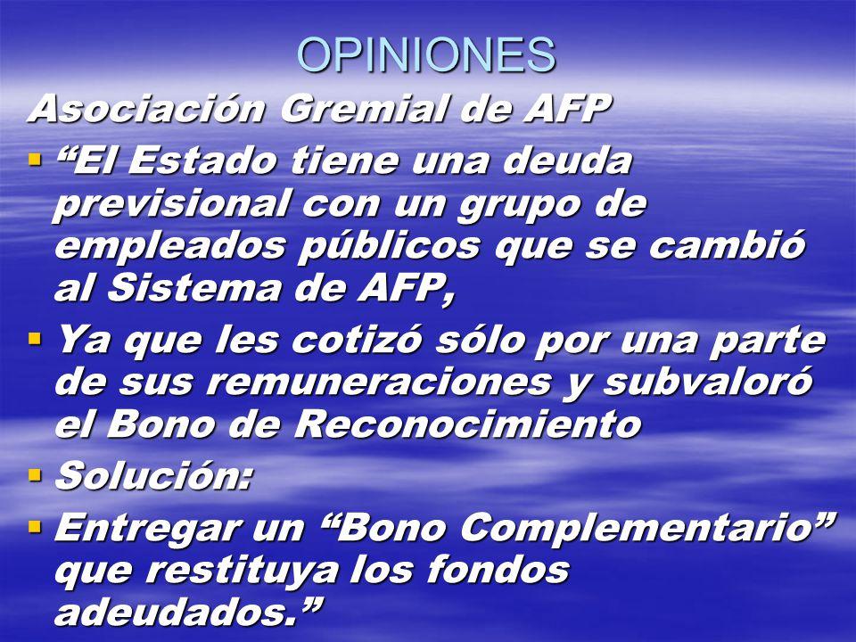 OPINIONES Asociación Gremial de AFP