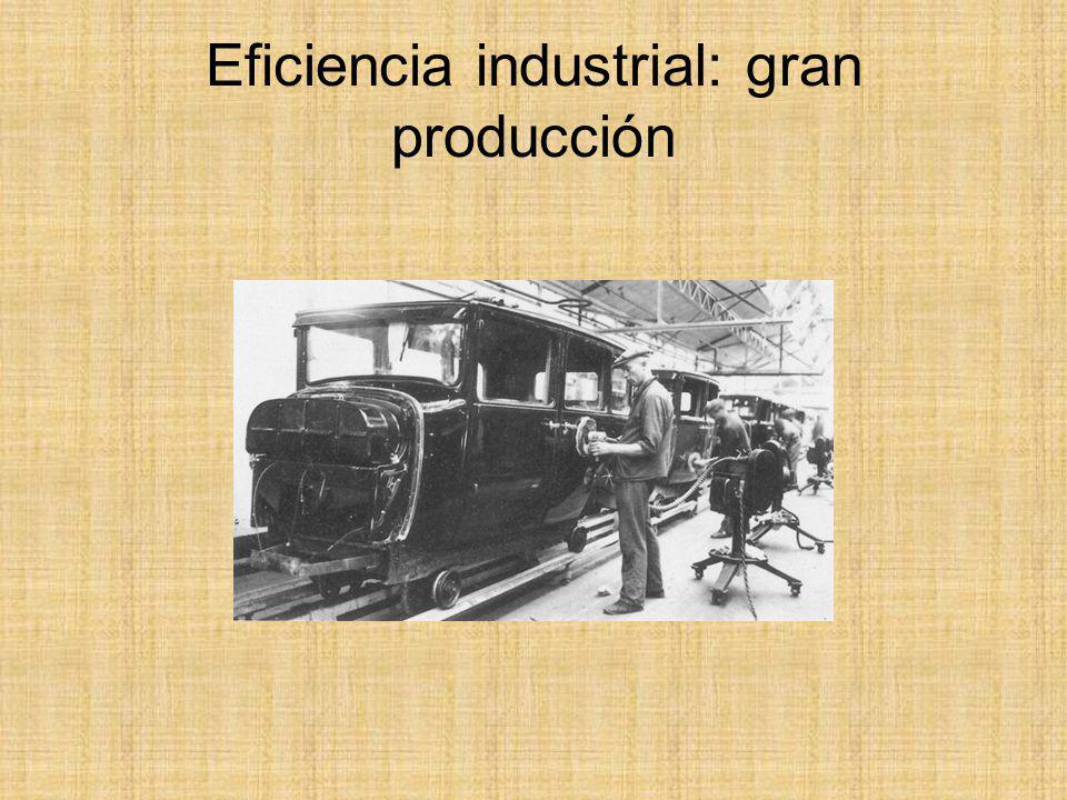 Eficiencia industrial: gran producción