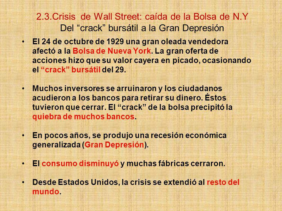 2. 3. Crisis de Wall Street: caída de la Bolsa de N