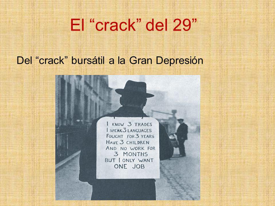 El crack del 29 Del crack bursátil a la Gran Depresión