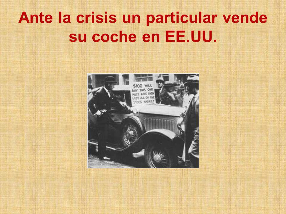 Ante la crisis un particular vende su coche en EE.UU.
