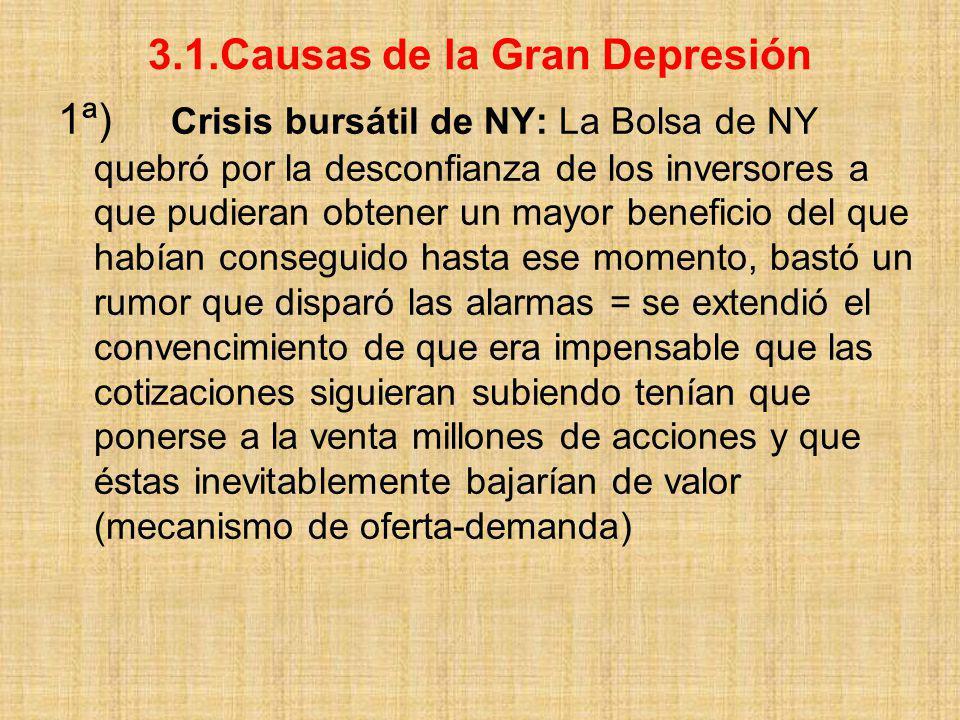 3.1.Causas de la Gran Depresión