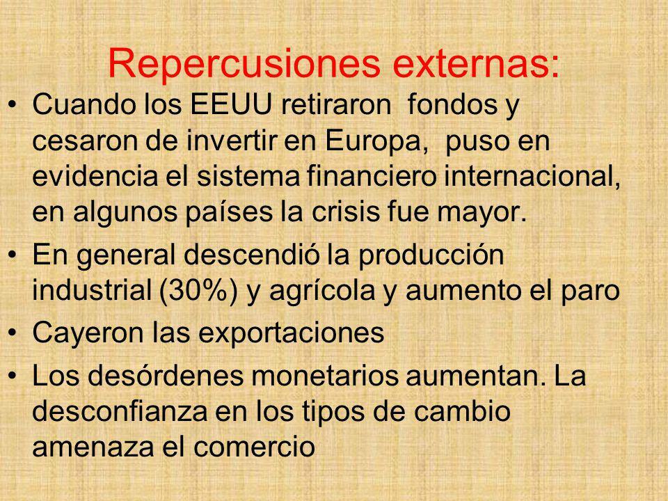 Repercusiones externas: