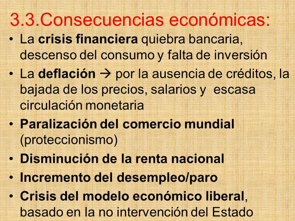3.3.Consecuencias económicas: