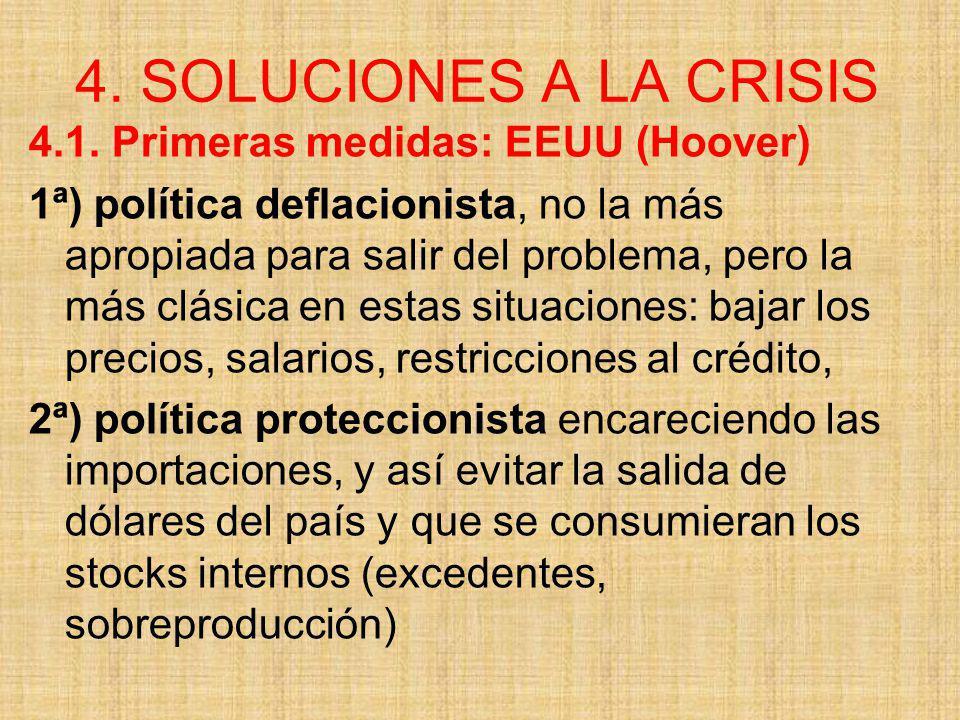 4. SOLUCIONES A LA CRISIS 4.1. Primeras medidas: EEUU (Hoover)