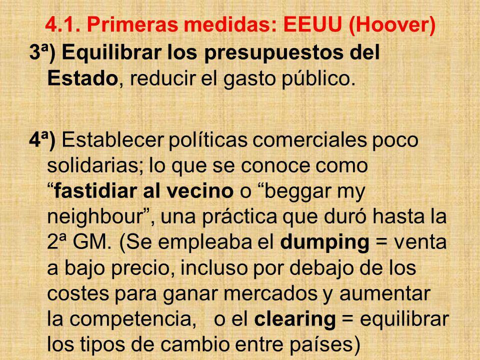 4.1. Primeras medidas: EEUU (Hoover)