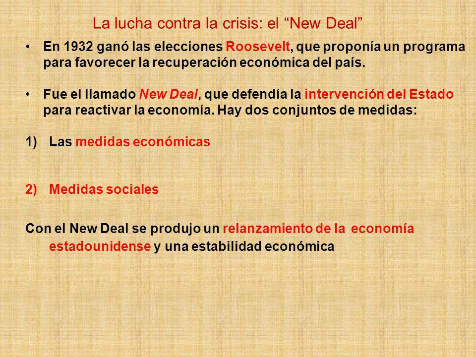 La lucha contra la crisis: el New Deal
