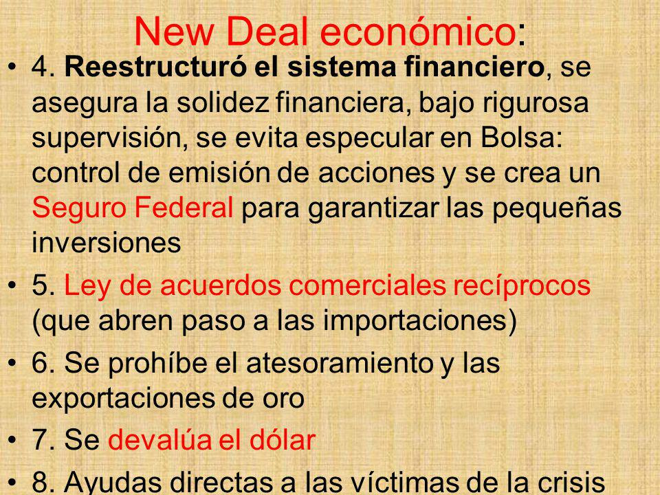 New Deal económico: