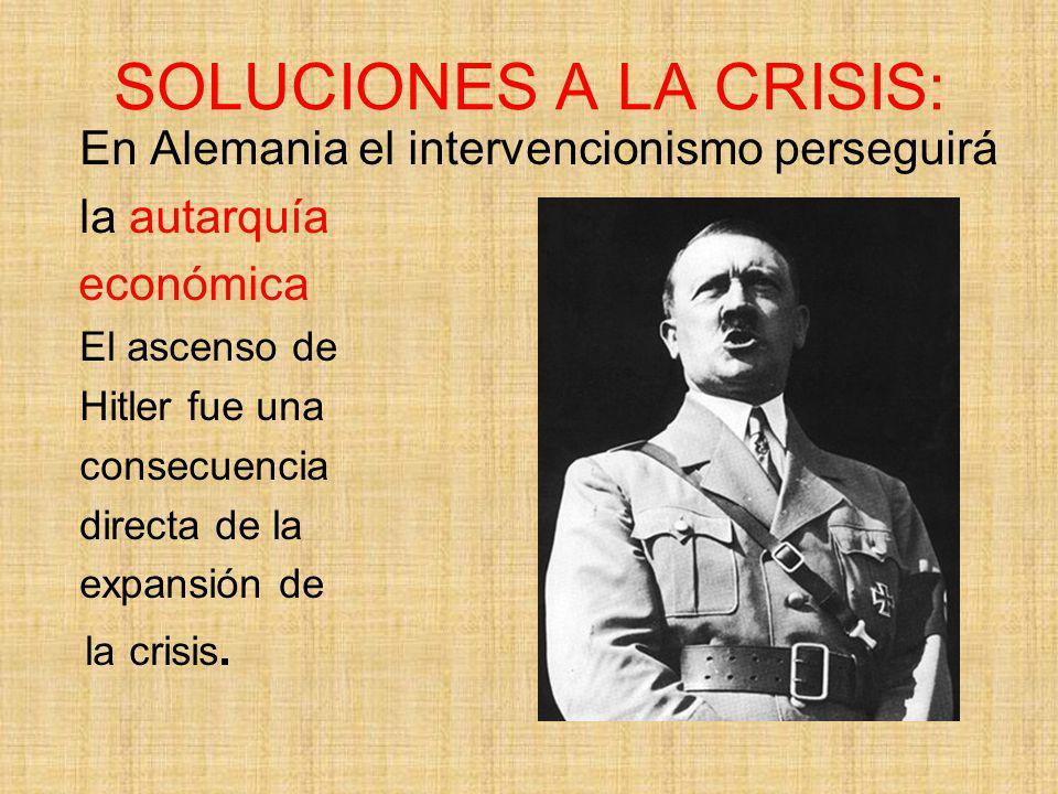 SOLUCIONES A LA CRISIS: