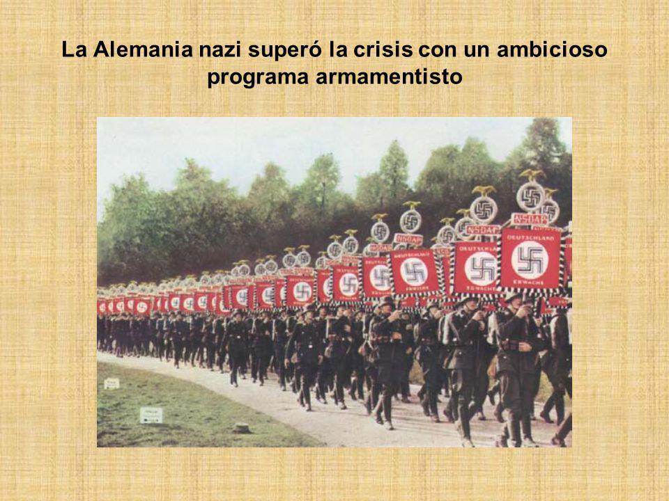 La Alemania nazi superó la crisis con un ambicioso programa armamentisto
