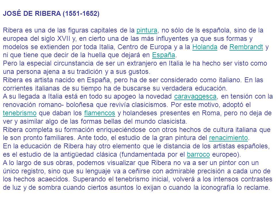 JOSÉ DE RIBERA (1551-1652)