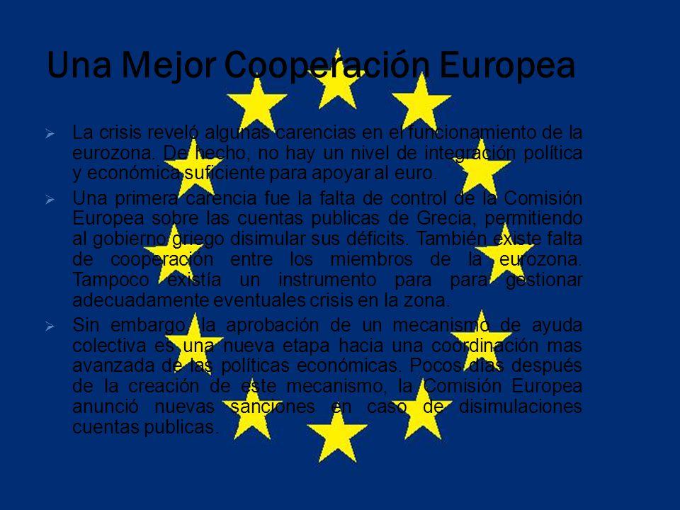 Una Mejor Cooperación Europea