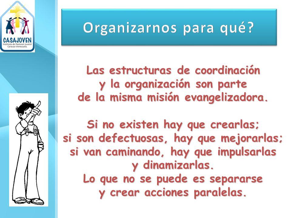 Organizarnos para qué Las estructuras de coordinación
