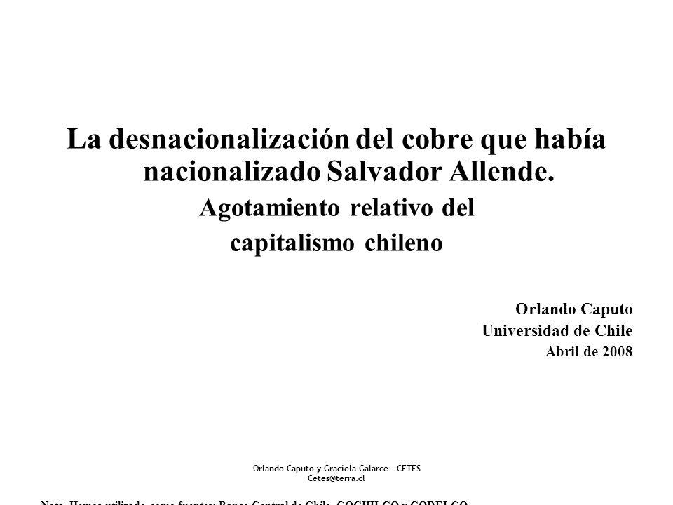 Agotamiento relativo del Orlando Caputo y Graciela Galarce - CETES