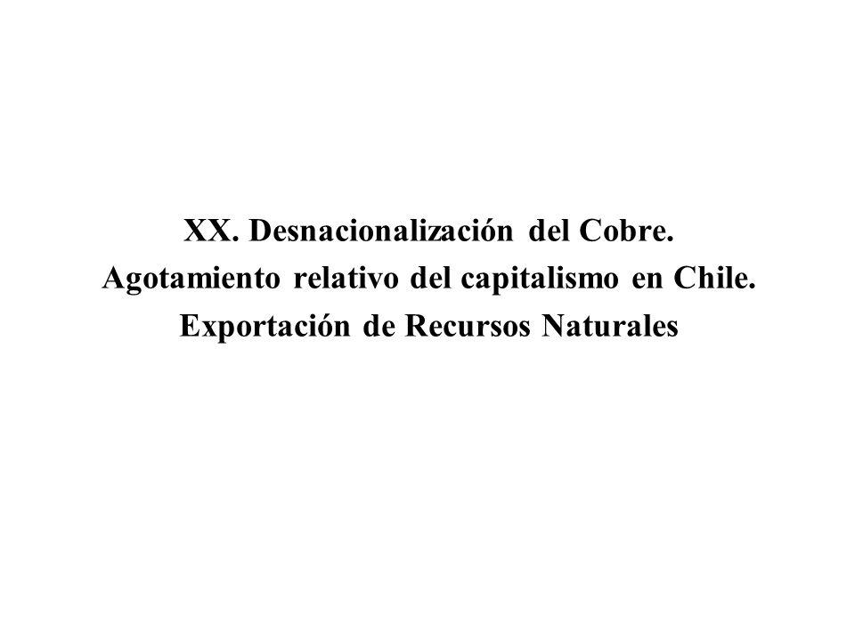 XX. Desnacionalización del Cobre.