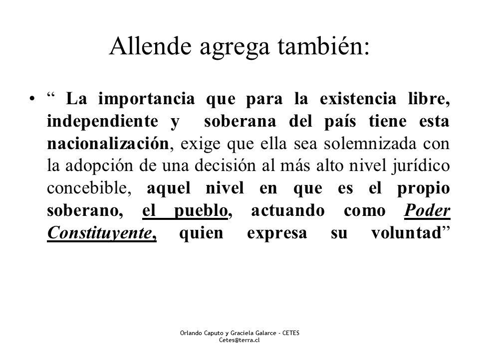 Allende agrega también: