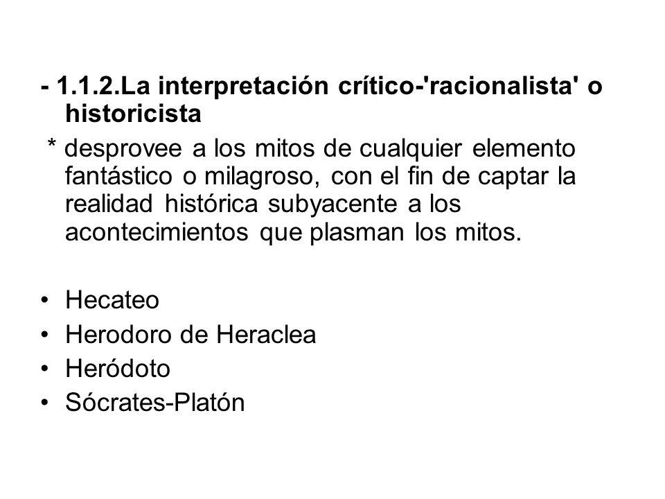 - 1.1.2.La interpretación crítico- racionalista o historicista
