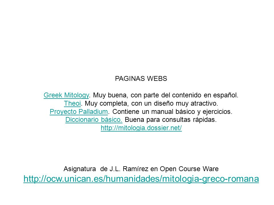Asignatura de J.L. Ramírez en Open Course Ware