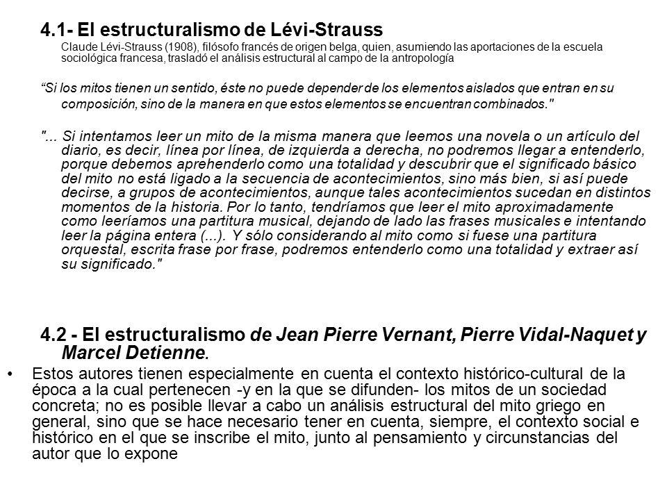 4.1- El estructuralismo de Lévi-Strauss