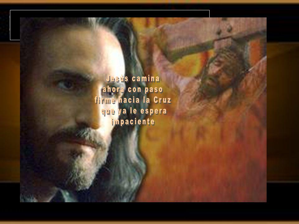 Jesús camina ahora con paso firme hacia la Cruz que ya le espera impaciente