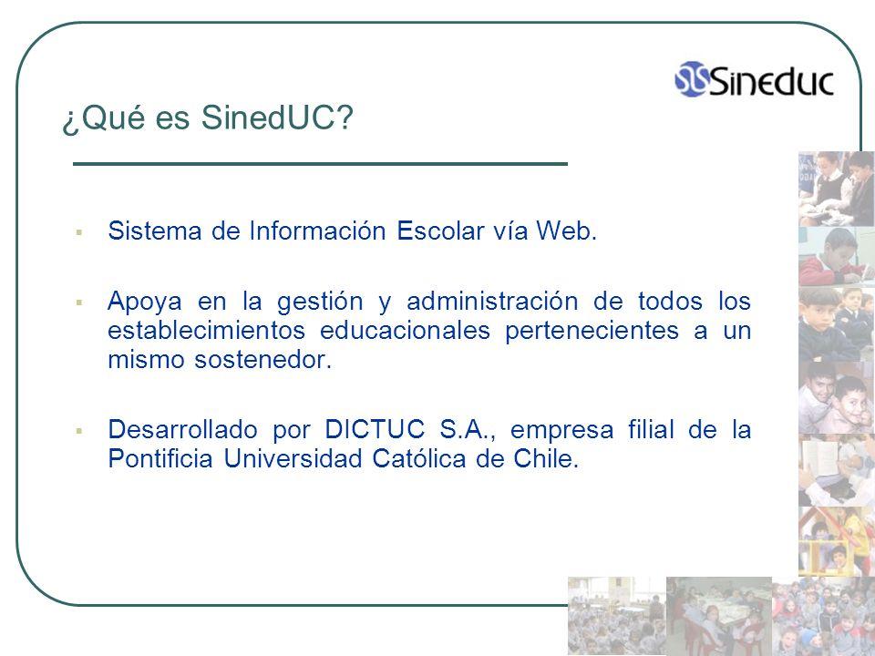 ¿Qué es SinedUC Sistema de Información Escolar vía Web.