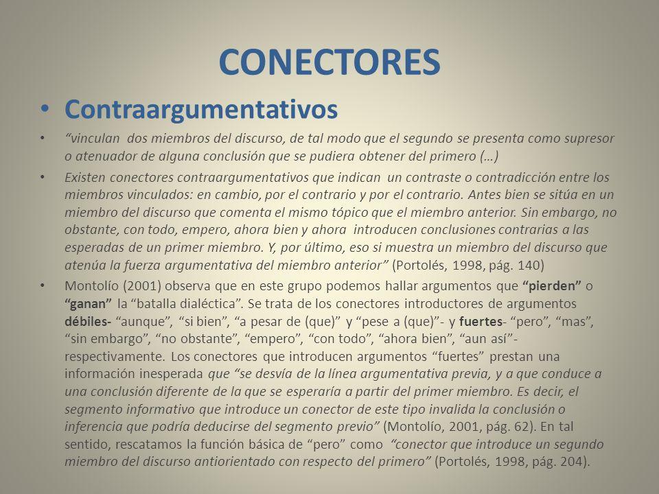 CONECTORES Contraargumentativos