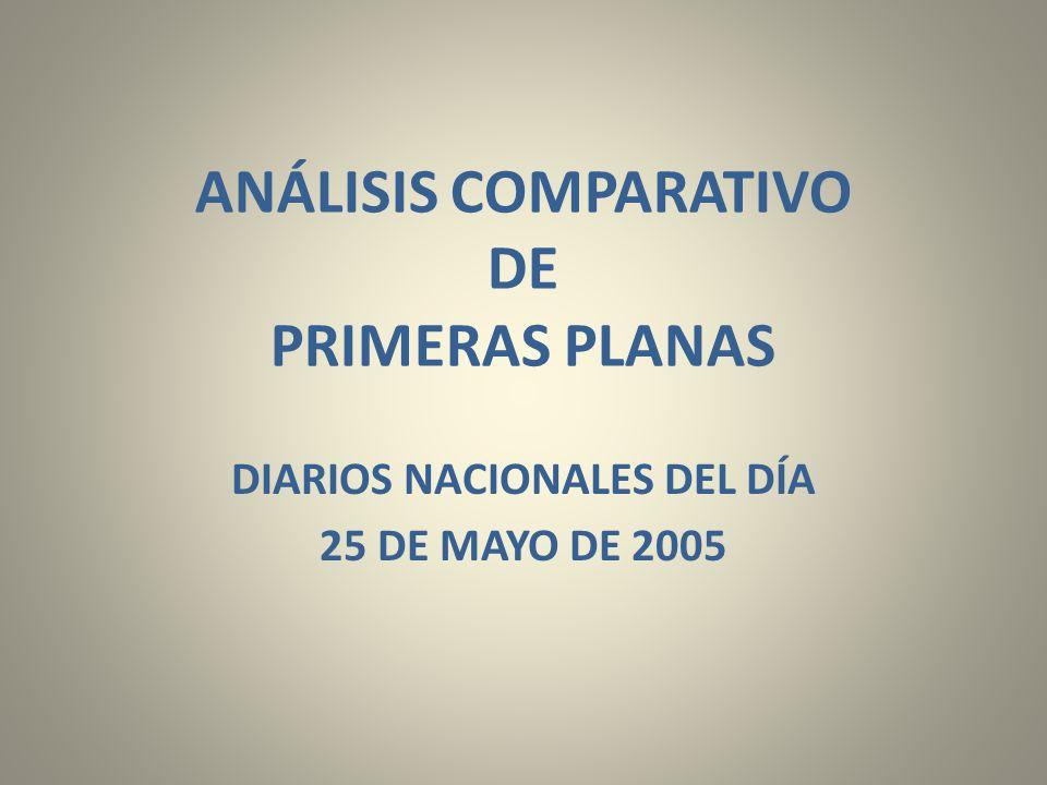 ANÁLISIS COMPARATIVO DE PRIMERAS PLANAS