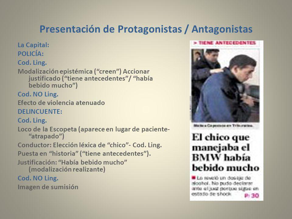 Presentación de Protagonistas / Antagonistas