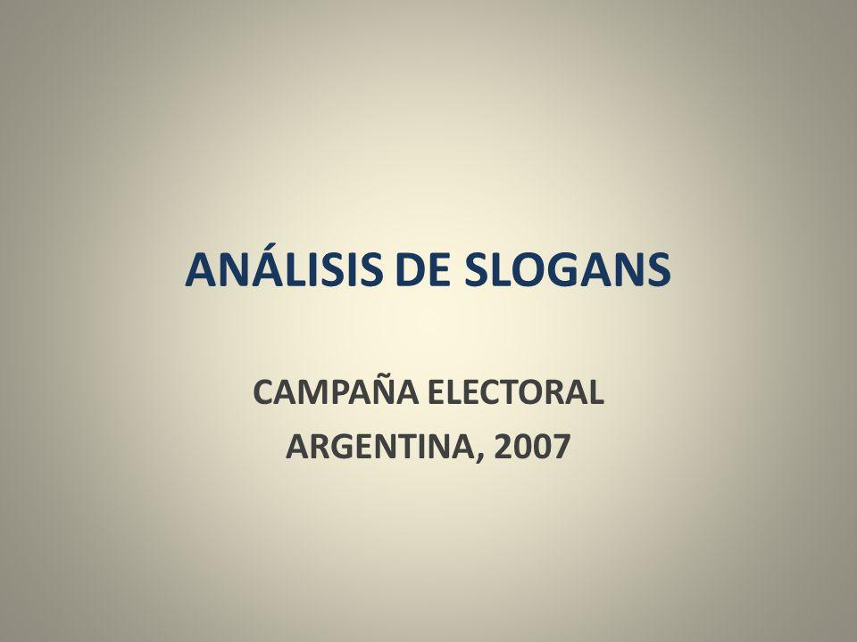 CAMPAÑA ELECTORAL ARGENTINA, 2007