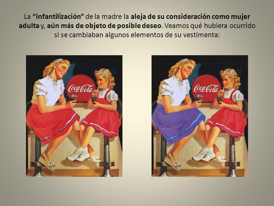 La infantilización de la madre la aleja de su consideración como mujer adulta y, aún más de objeto de posible deseo.