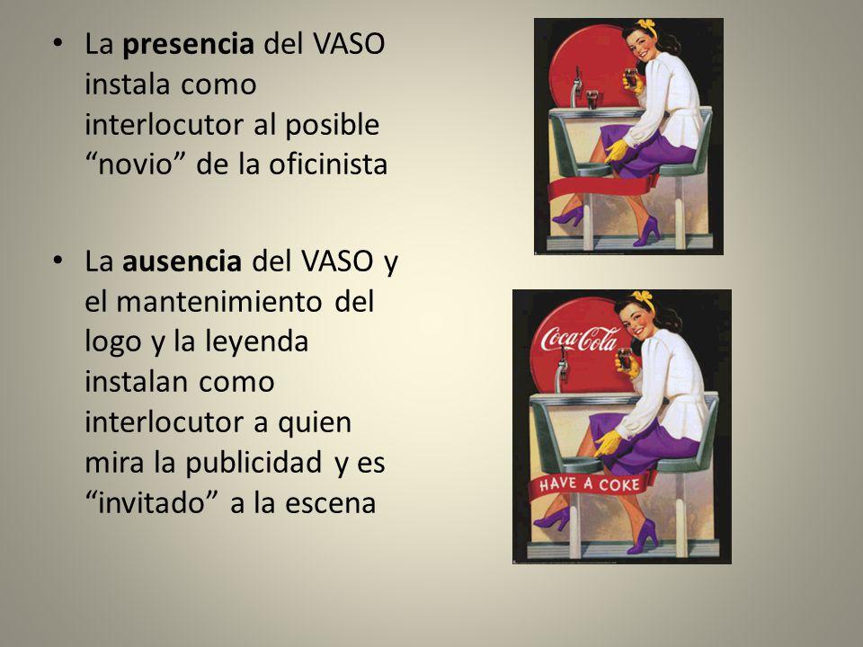 La presencia del VASO instala como interlocutor al posible novio de la oficinista