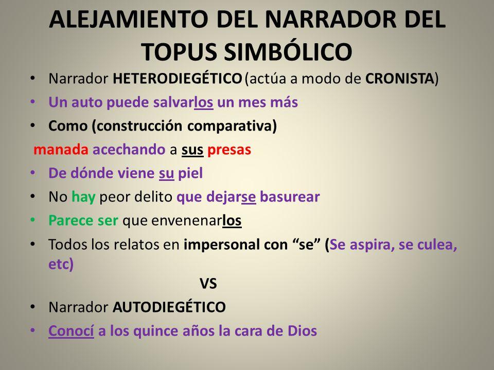 ALEJAMIENTO DEL NARRADOR DEL TOPUS SIMBÓLICO