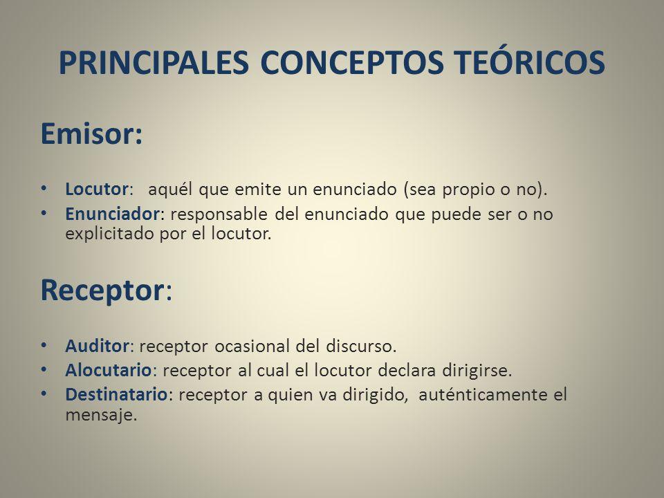 PRINCIPALES CONCEPTOS TEÓRICOS