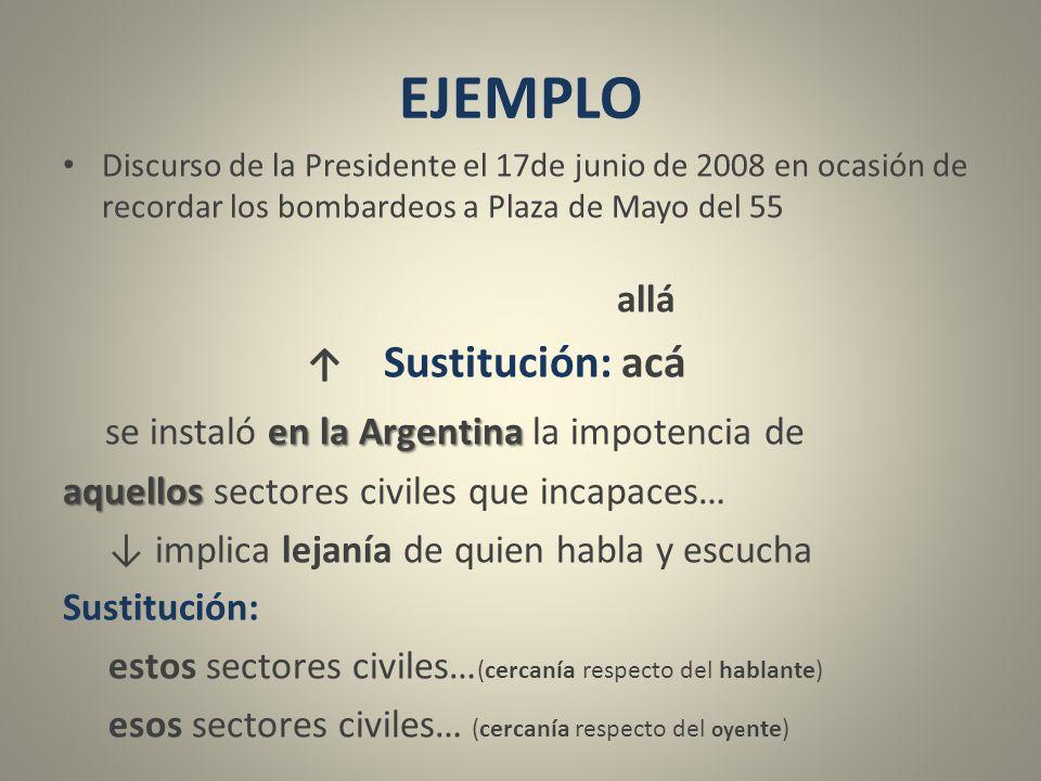 EJEMPLO se instaló en la Argentina la impotencia de